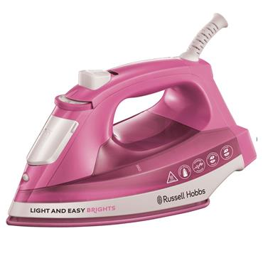 Russell Hobbs Light & Easy Brights 2400W Steam Iron Pink | 25760