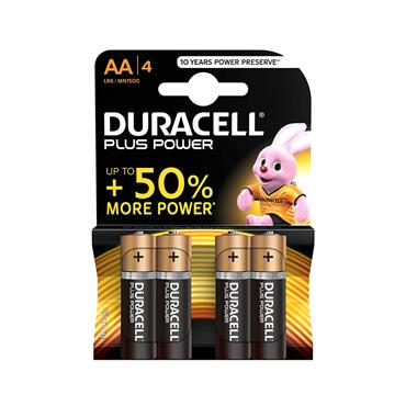 DURACELL PLUS POWER AA BATTERY 4 PACK