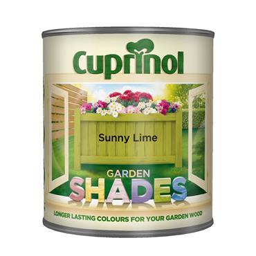 Cuprinol 1 Litre Garden Shades Woodstain - Sunny Lime | 5159072