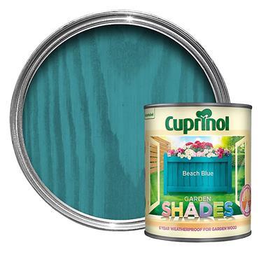 Cuprinol 1 Litre Garden Shades Woodstain - Beach Blue | 5159073