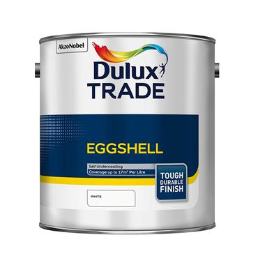 Dulux Trade 2.5 Litre Eggshell - Brillant White | 5183327