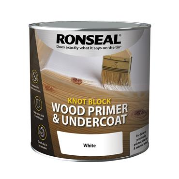 Ronseal 250ml Wood Knot Block Primer & Undercoat - White | 36482