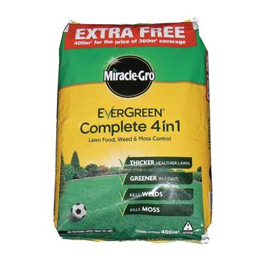 Miracle Gro Evergreen Complete 4 IN 1 lawn weed feed and mosskiller 14kg