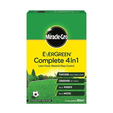 Evergreen Complete 4 in 1 Lawn Feed Weed & Moss Killer 80 square meters