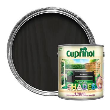 Cuprinol 2.5 Litre Garden Shades Woodstain - Black Ash | 5083469
