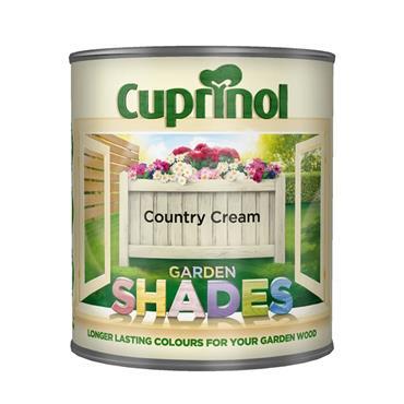 Cuprinol 1 Litre Garden Shades Woodstain - Country Cream | 5092588