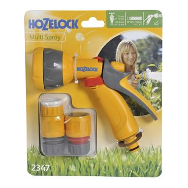 Hozelock Garden Hose Multi Spray Gun Starter Set with Fittings | HOZ2347
