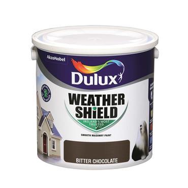 Dulux 2.5 Litre Weathershield Masonry Paint - Bitter Chocolate | 5084641