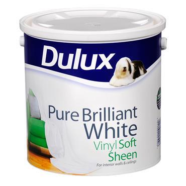 Dulux 2.5 Litre Soft Sheen - Brillant White   5084165