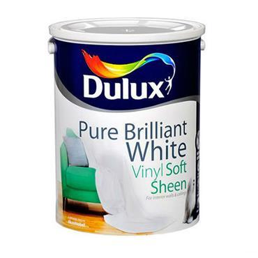Dulux 1 Litre Soft Sheen - Brillant White   5084164