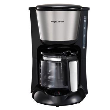 Morphy Richards Equip Filter Coffee Machine Black / Brushed Steel | 162501