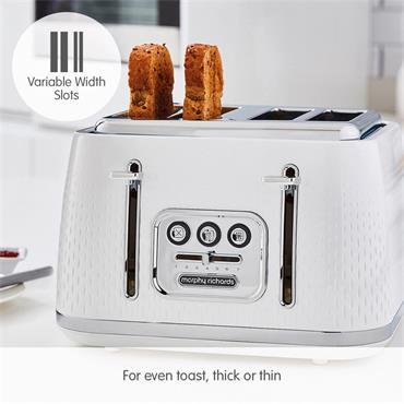 Morphy Richards Verve 4 Slice Toaster - White | 243012