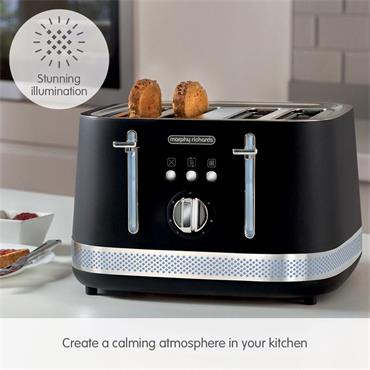 Morphy Richards Illumination 4 Slice Toaster - Black | 248020