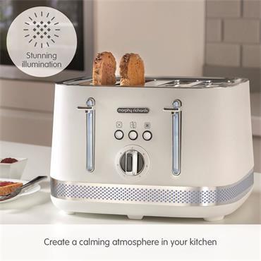 Morphy Richards Illumination 4 Slice Toaster - White | 248021