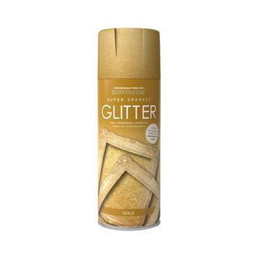 Rustoleum 400ml Super Sparkly Glitter Spray Paint - Gold | PTOU233