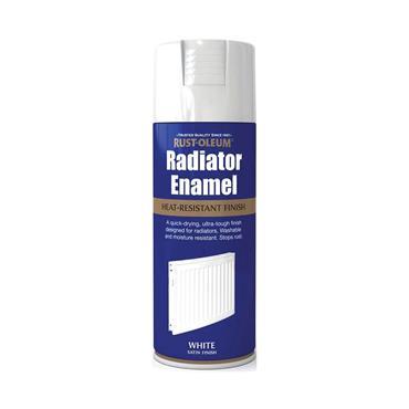 Rustoleum Radiator Enamel Spray Paint 400ml - Satin White | PTOU054