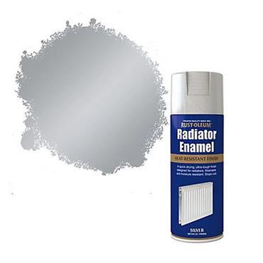 Rustoleum Radiator Enamel Heat Resistant Spray Paint 400ml - Silver | PTOU204