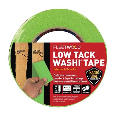 "Fleetwood 1.5"" Low Tack Masking Tape 