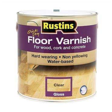 Rustins 1 Litre Quick Drying Gloss Floor Varnish - Clear | R690066