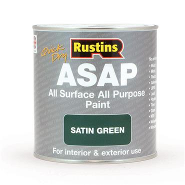 Rustins 1 Litre ASAP All Surface All Purpose Paint - Satin Green | R480122