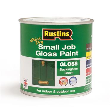 Rustins 250ml Quick Dry Small Job Gloss Paint - Buckingham Green | R690261
