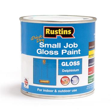 Rustins 250ml Quick Dry Small Job Gloss Paint - Delphinium | R690267