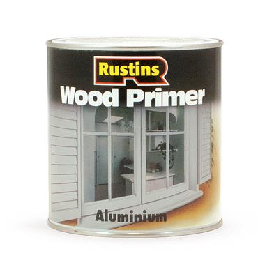 Rustins 250ml Aluminium Wood Primer - Grey | R020001
