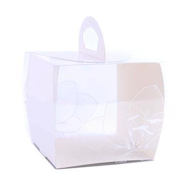 Square Plastic Cake Box with handle | PL0008S