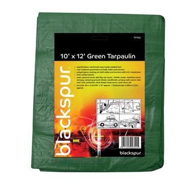 BLACKSPUR 6' X 9' TARPAULIN - GREEN