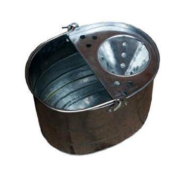 traditional Galvanised Metal Mop Bucket - 10 LITRE