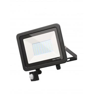 Zinc Rye Slimline LED IP65 Floodlight with PIR Sensor - 50w