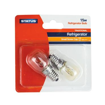 Status Refrigerator Fridge Bulb 15W Clear SES -  2 Pack | ST0040