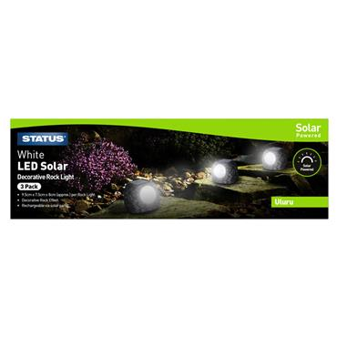 Status Uluru Small Rock Solar Light 3 Pack | ULURU3PK6