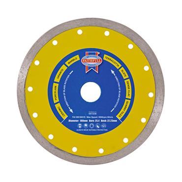 Faithfull Diamond Tile Blade Continuous Rim 115 x 22.2mm | FAIDB115CR