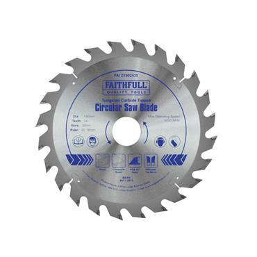 Faithfull TCT Circular Saw Blade 190 x 30mm x 24T POS | FAIZ1902430