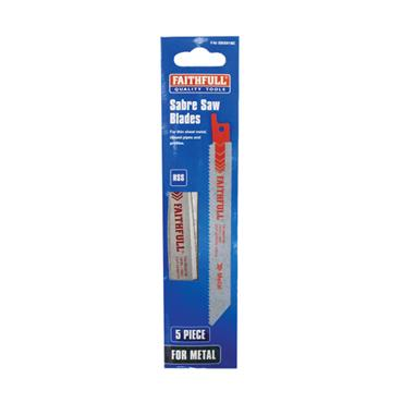 Faithfull S918H Sabre Saw Blade Metal 150mm 10 TPI (Pack of 5) | FAISBS918H