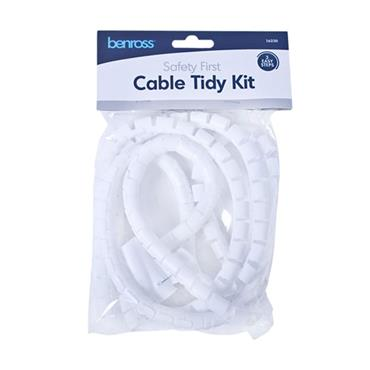 CABLE TIDY KIT WHITE