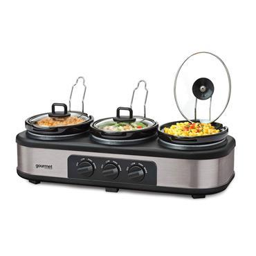 Quest 3 x 2.5 Litre Electric Slow Cooker Buffer Server Food Warmer   16530
