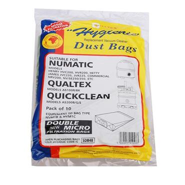 Henry Hetty Numatic Spare Vacuum Bags 10 Pack | SDB48