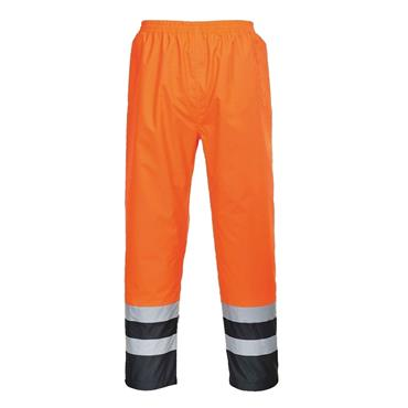 PORTWEST HI VIS 2 TONE RAIN TROUSERS (ORANGE)