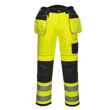PORTWEST VISION HI VIZ TROUSERS (YELLOW)