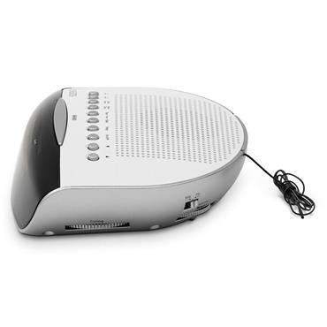 Roberts MW / FM Dual Alarm Clock Radio - White | CR9971W