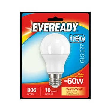 Eveready 9.6W (60W) E27 GLS LED Bulb | 1825-34