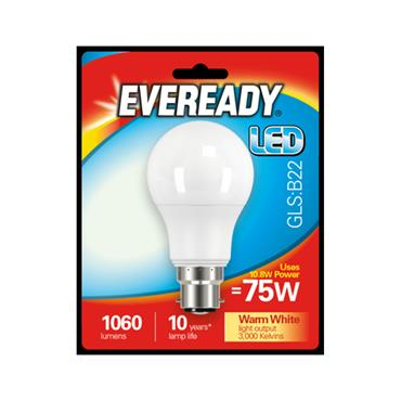 Eveready 10.8W (75W) B22 GLS LED Bulb | 1825-30