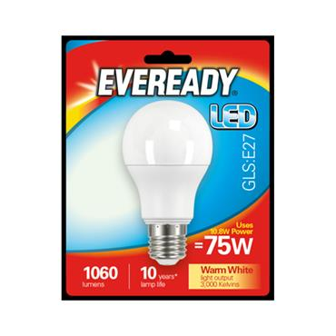 Eveready 10.8W (75W) E27 GLS LED Bulb | 1825-36