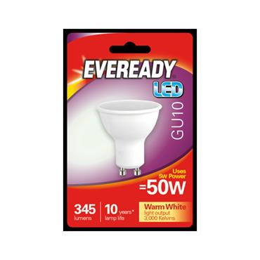 Eveready 3.8W (30W) GU10 LED Bulb - Warm White | 1826-04