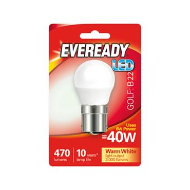 Eveready 6W (40W) B22 Golf Ball Led Bulb | 1826-08