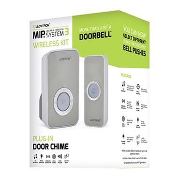 Lloytron 32 Melody Plugin Door Bell Chime Kit - Grey | DB7531G