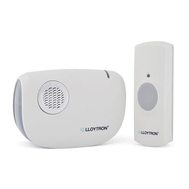 Lloytron Ding Dong Battery Operated Door Bell Chime Kit - White | DB7030W