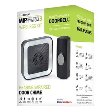 Lloytron 32 Melody Hearing Impaired Door Bell Chime Kit - Black | DB7533B